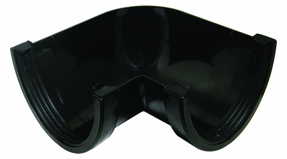 FLOPLAST RAX1BL XTRAFLO 170MM GUTTER SYSTEM - 90* ANGLE - BLACK
