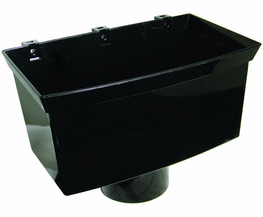 Floplast RHX1BL 170mm Xtraflo Gutter System - Hopper - Black