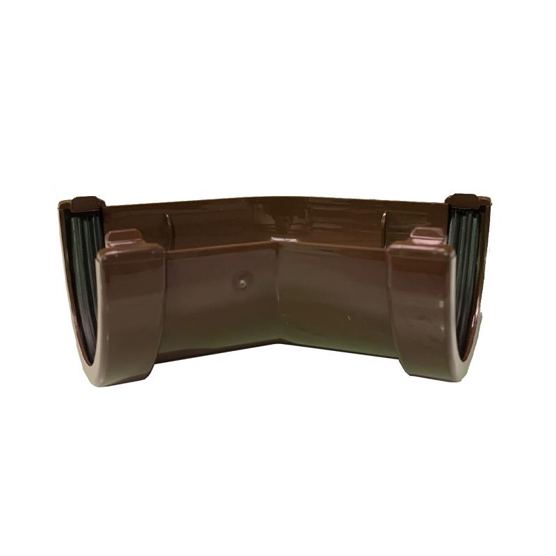 Floplast RAM2BR 76mm Miniflo Gutter - 135 Degree Angle - Brown