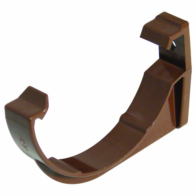 FLOPLAST MINIFLO 76MM GUTTER - RKM1 FASCIA BRACKET - BROWN