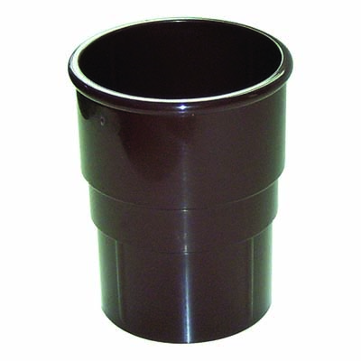 FLOPLAST MINIFLO 50MM DOWNPIPE - RSM1 PIPE SOCKET - BROWN