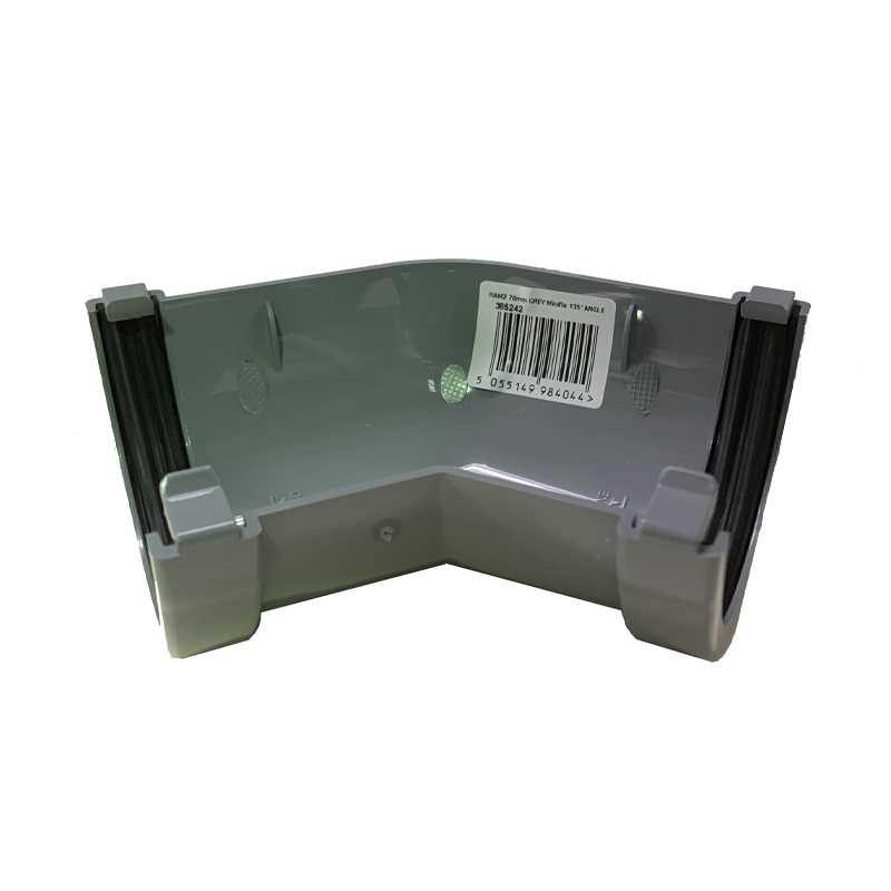 Floplast RAM2GR 76mm Miniflo Gutter - 135 Degree Angle - Grey