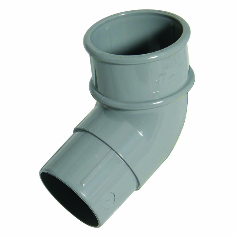 FLOPLAST MINIFLO 50MM DOWNPIPE - RBM2 112.5* OFFSET BEND - GREY