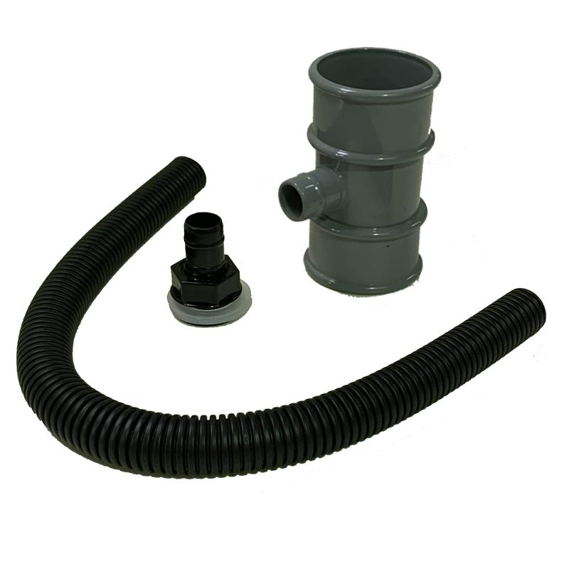 Floplast RVM1GR 50mm Miniflo Downpipe - Rain Diverter (Water Butt Connector) - Grey