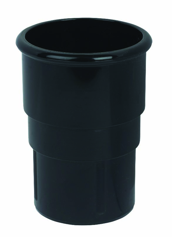 FLOPLAST MINIFLO 50MM DOWNPIPE - RSM1 PIPE SOCKET - BLACK