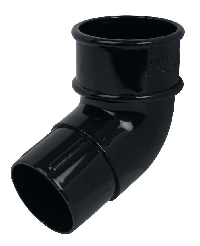 FLOPLAST RBM2BL MINIFLO 50MM DOWNPIPE - 112.5 DEGREE OFFSET BEND - BLACK