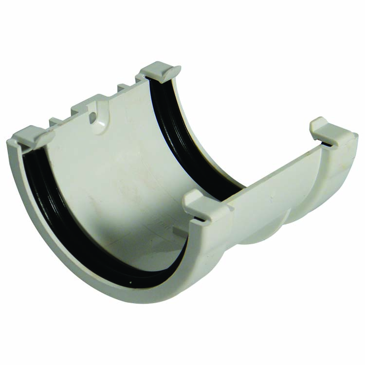 FLOPLAST MINIFLO 76MM GUTTER - RUM1 UNION BRACKET - WHITE