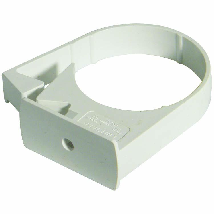 FLOPLAST MINIFLO 50MM DOWNPIPE - RCM1 PIPE CLIP - WHITE