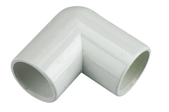 FLOPLAST OS11W 90 DEG ELBOW OVERFLOW 21.5MM WHITE