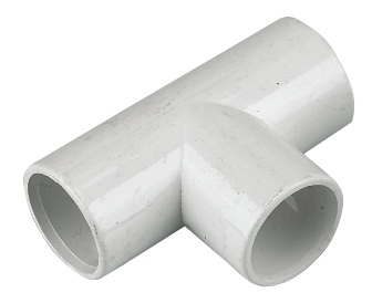 FLOPLAST OS13W TEE OVERFLOW 21.5MM WHITE