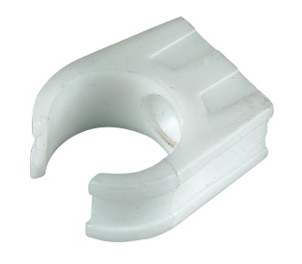 Floplast OS16WH 21.5mm Overflow Pipe Fittings - Pipe Clip - White