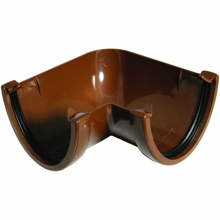 FLOPLAST RAH1BR HI-CAP (DEEPFLOW) GUTTER - 90* ANGLE - BROWN