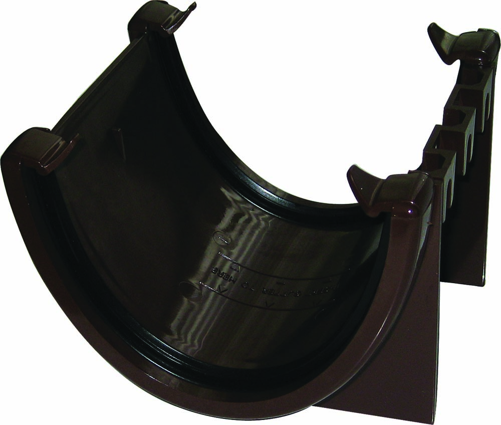 FLOPLAST RUH1BR HI-CAP (DEEPFLOW) GUTTER - UNION BRACKET - BROWN