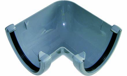 FLOPLAST HI-CAP GUTTER - RAH1 90* ANGLE - GREY