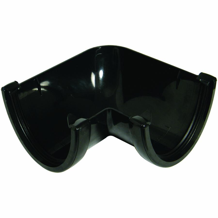 FLOPLAST RAH1BL HI-CAP GUTTER - 90* ANGLE - BLACK