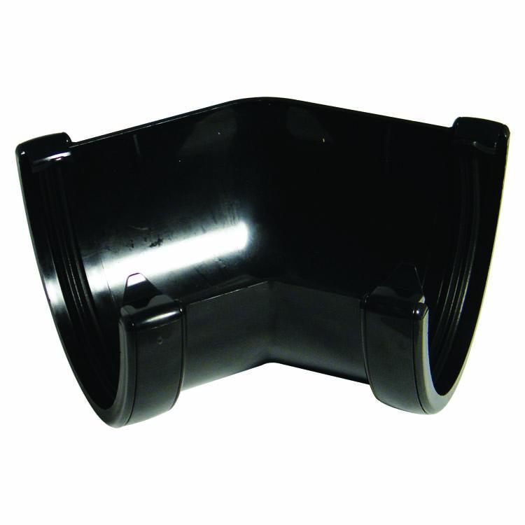 FLOPLAST RAH2BL HI-CAP (DEEPFLOW) GUTTER - 135* ANGLE - BLACK