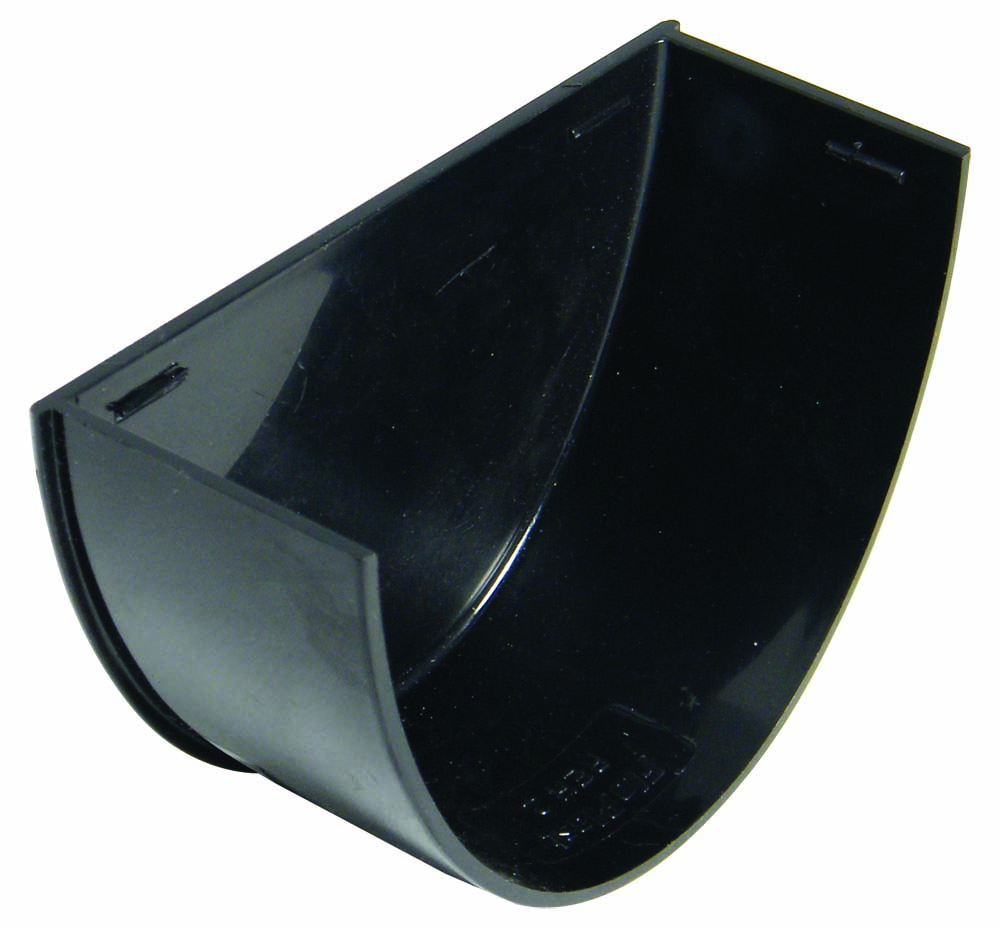 FLOPLAST REH2BL HI-CAP (DEEPFLOW) GUTTER - INTERNAL STOPEND - BLACK