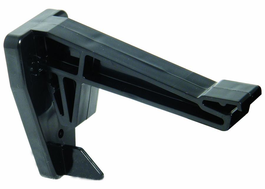FLOPLAST RKH2BL HI-CAP GUTTER -  TOP HUNG FASCIA BRACKET - BLACK