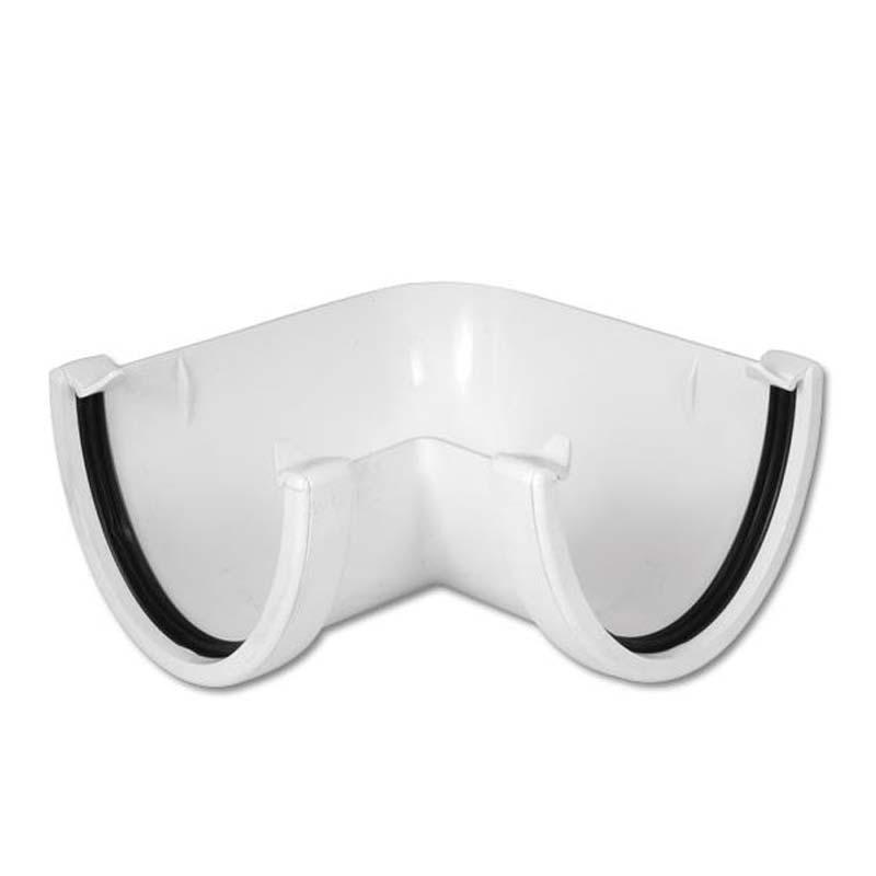 Floplast RAH1WH 115mm Hi-Cap (Deepflow) Gutter - 90* Angle - White
