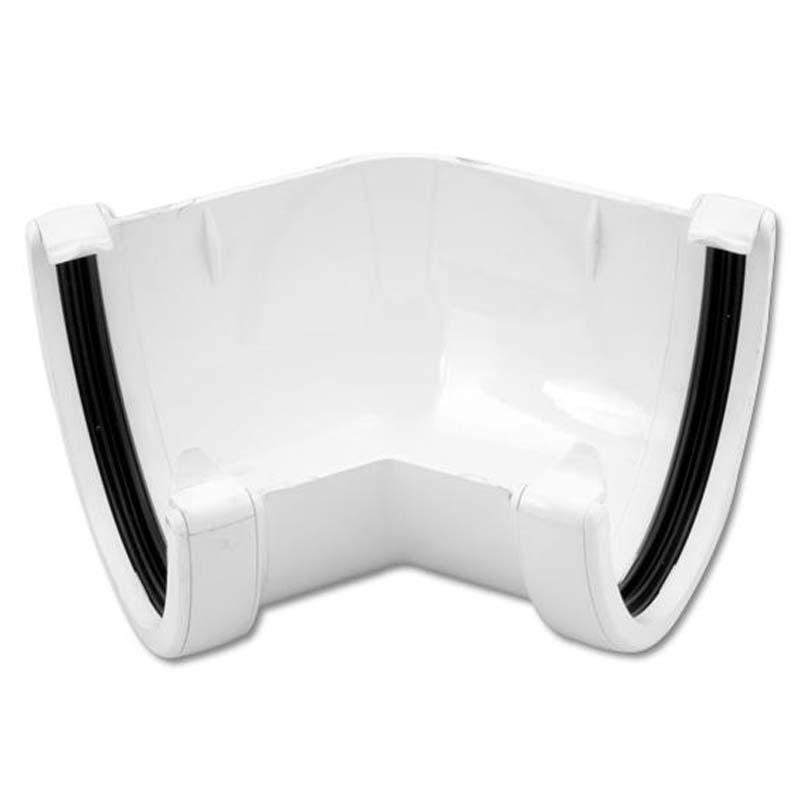Floplast RAH2WH 115mm Hi-Cap (Deepflow) Gutter - 135* Angle - White