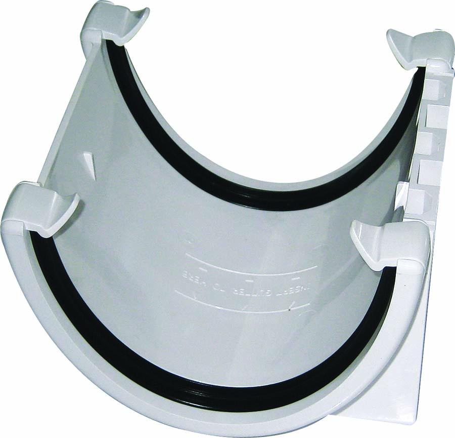 FLOPLAST RUH1WH HI-CAP (DEEPFLOW) GUTTER - UNION BRACKET - WHITE