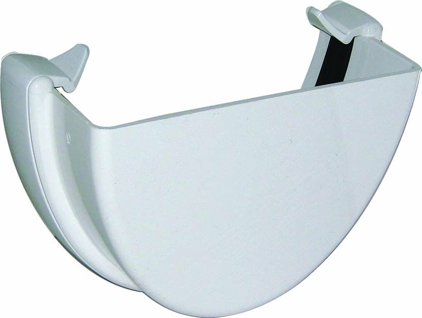 FLOPLAST REH1WH HI-CAP GUTTER -  EXTERNAL STOPEND - WHITE