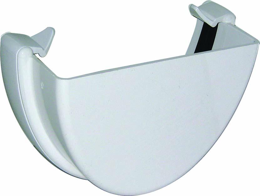 FLOPLAST REH1WH HI-CAP (DEEPFLOW) GUTTER - EXTERNAL STOPEND - WHITE
