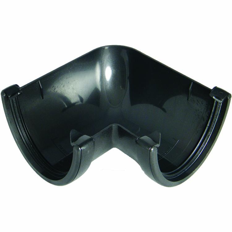 FLOPLAST HI-CAP GUTTER - RAH1 90* ANGLE - FAUX CAST IRON
