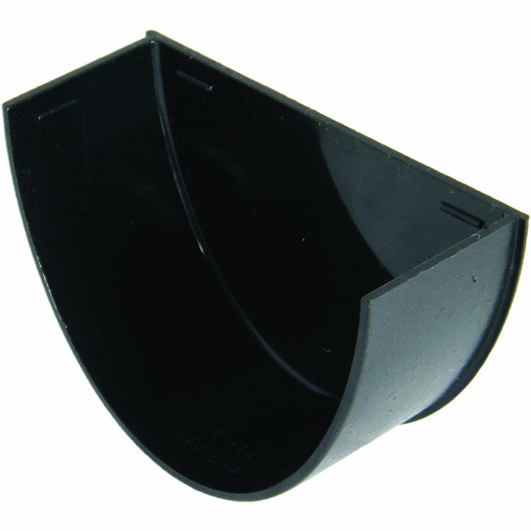 FLOPLAST REH2CI HI-CAP (DEEPFLOW) GUTTER - INTERNAL STOPEND - FAUX CAST IRON