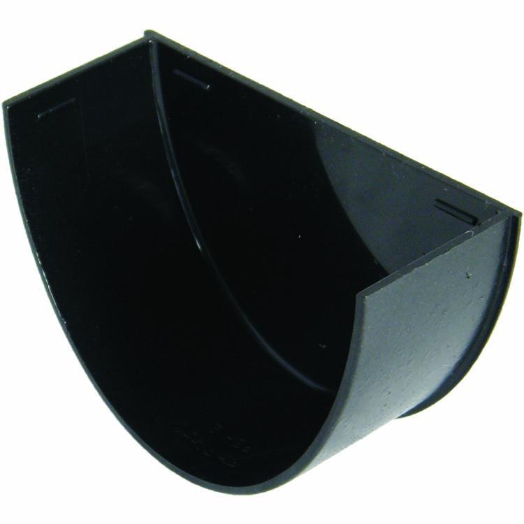 Floplast REH2CI 115mm Hi-Cap (Deepflow) Gutter - Internal Stopend - Faux Cast Iron
