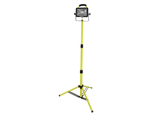 FAITHFULL SMD LED SINGLE HEAD 20W 240V SITE LIGHT AND TRIPOD - FPPSLLED20V