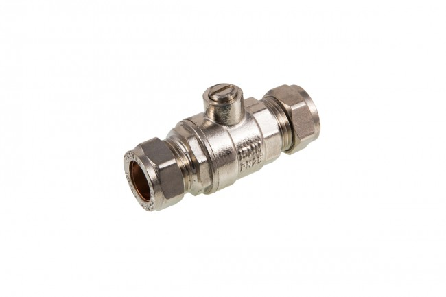 15MM FULL BORE ISOLATION VALVE - CHROME PLATED
