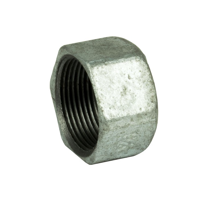 "Galvanised Malleable Iron Hexagon Cap 3/8"" BSP"