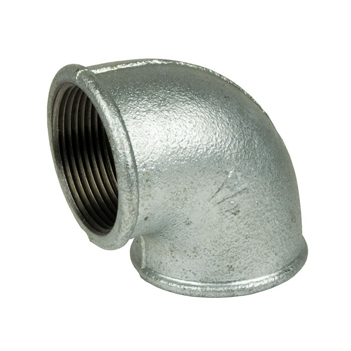 "Galvanised Malleable Iron Female Elbow 90 Degree 1"" BSP"