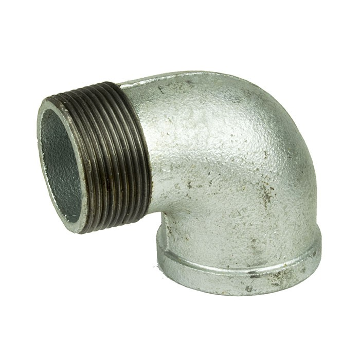 "Galvanised Malleable Iron Male X Female Elbow 90 Degree 1 1/2"" BSP"