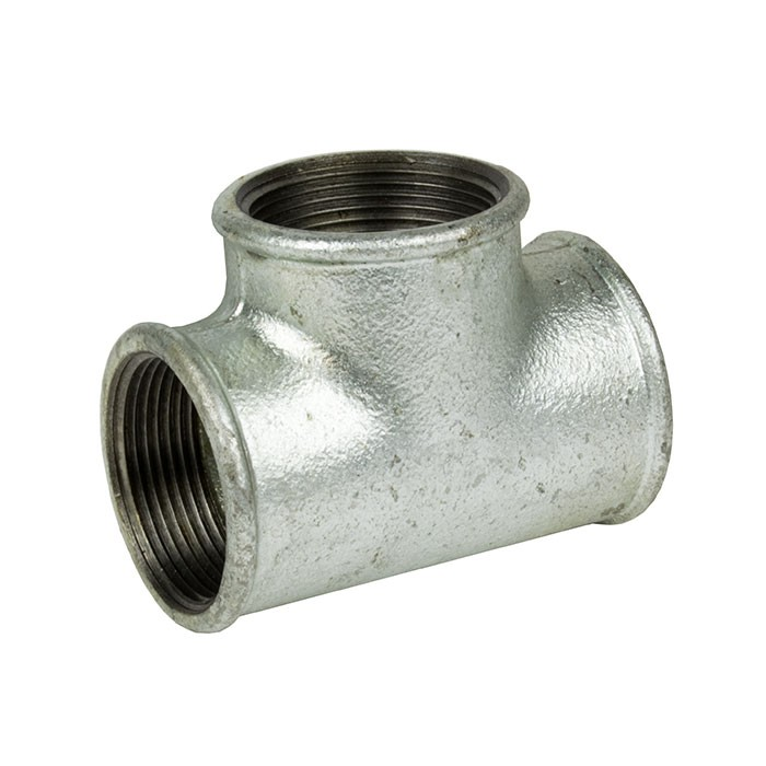 "Galvanised Malleable Iron Equal Tee Female 2"" BSP"