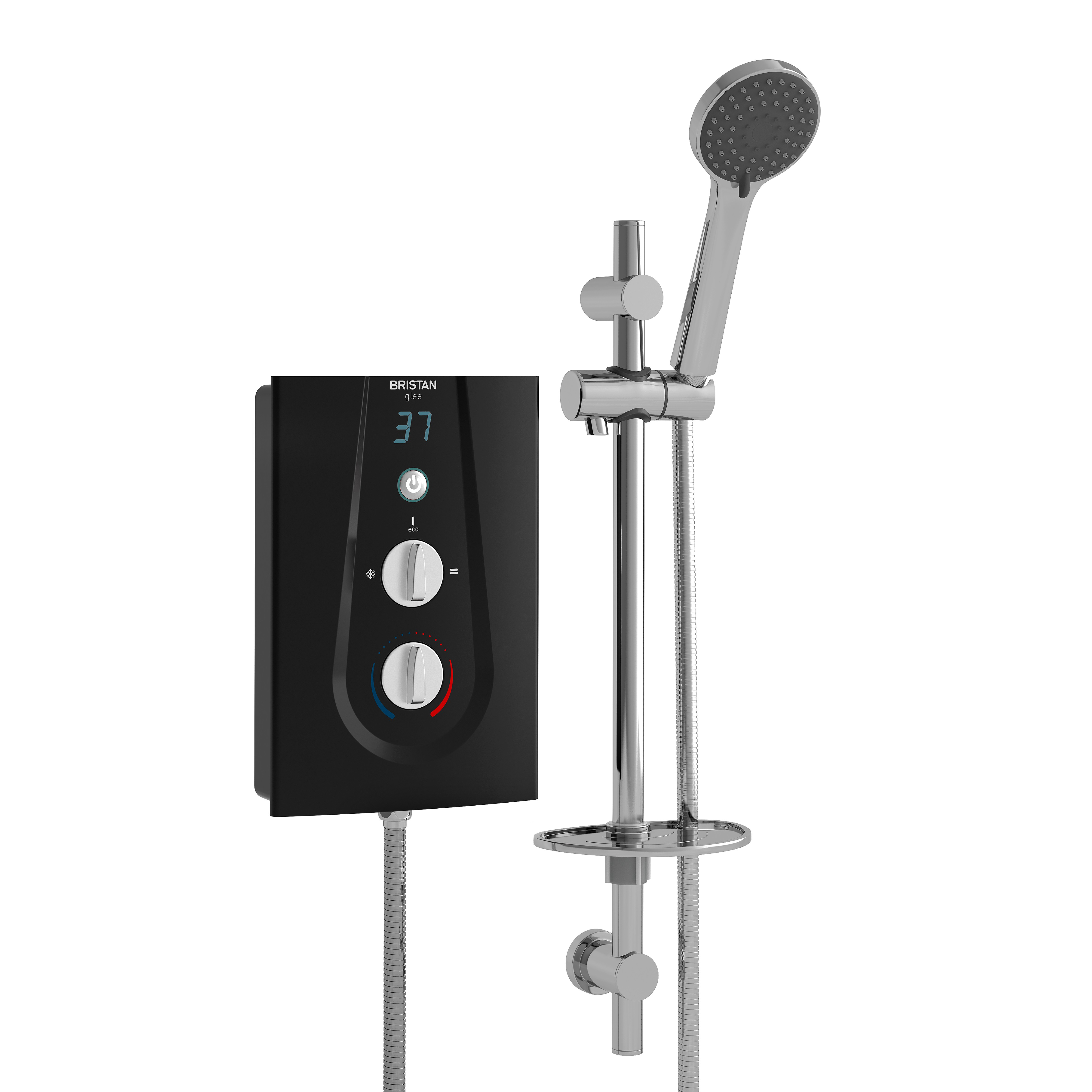 BRISTAN GLEE 10.5KW ELECTRIC SHOWER BLACK - GLE3105 B
