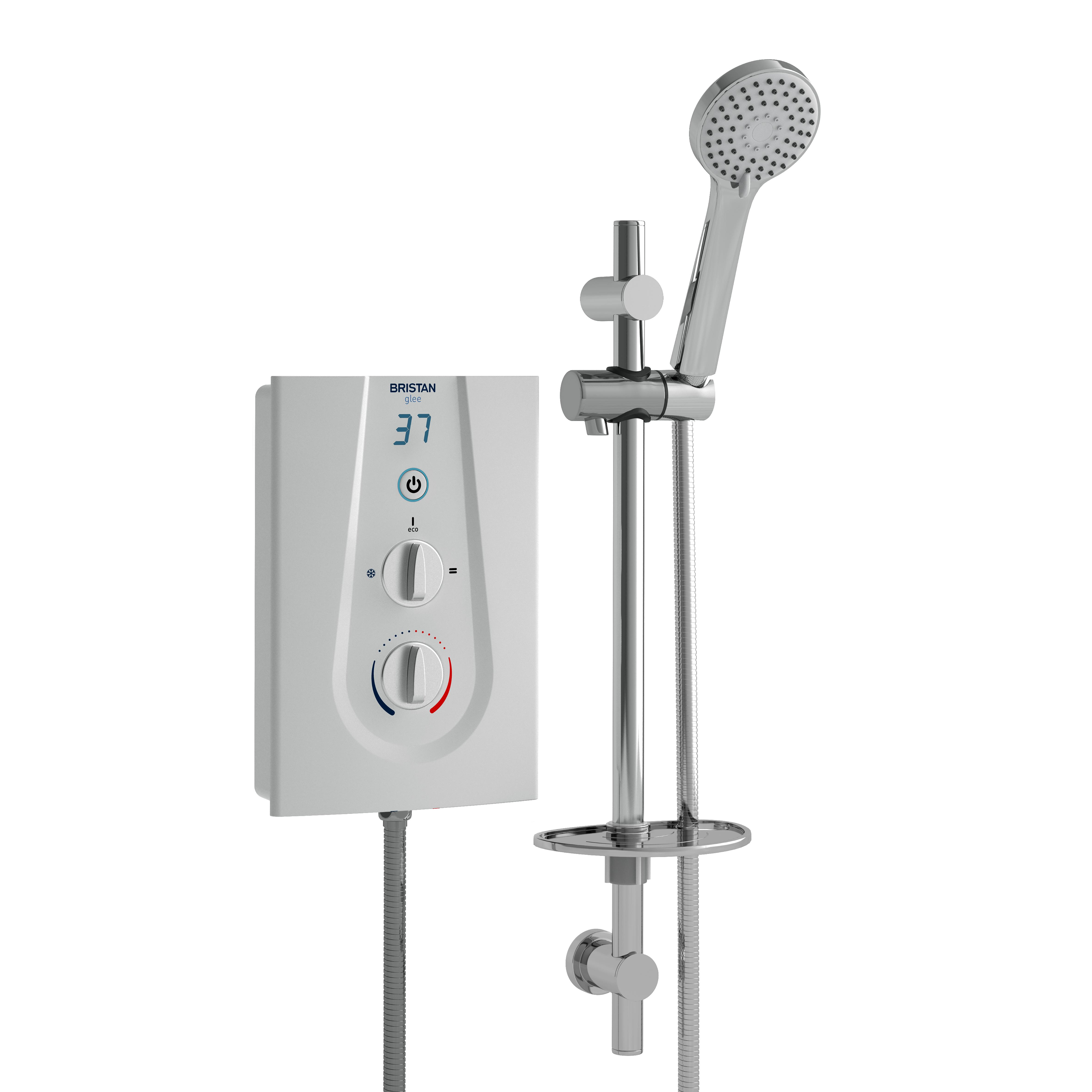 BRISTAN GLEE 9.5KW ELECTRIC SHOWER WHITE - GLE395 W