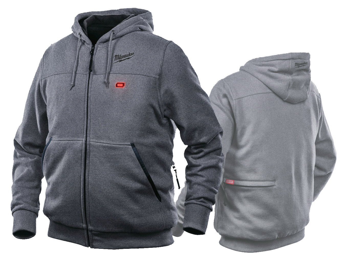 Milwaukee M12HHGREY3 Heated Hoodie Grey - Large