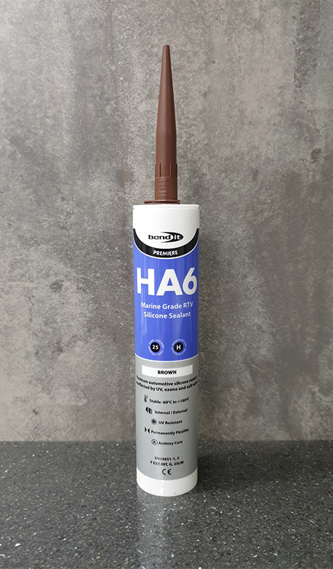 Bond-It HA6 RTV Marine Silicone Sealant Non-Shrinking EU3 - Brown