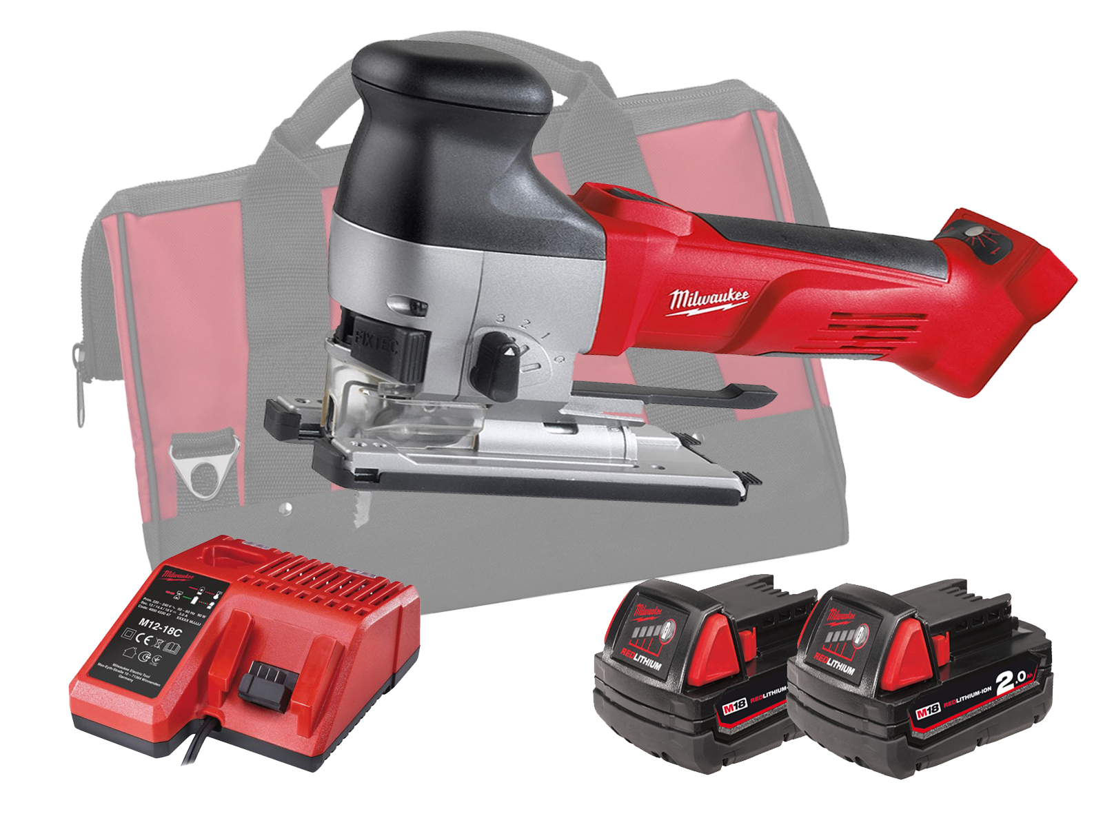 MILWAUKEE 18V HEAVY-DUTY BODY GRIP JIGSAW - HD18JSB - 2.0AH PACK