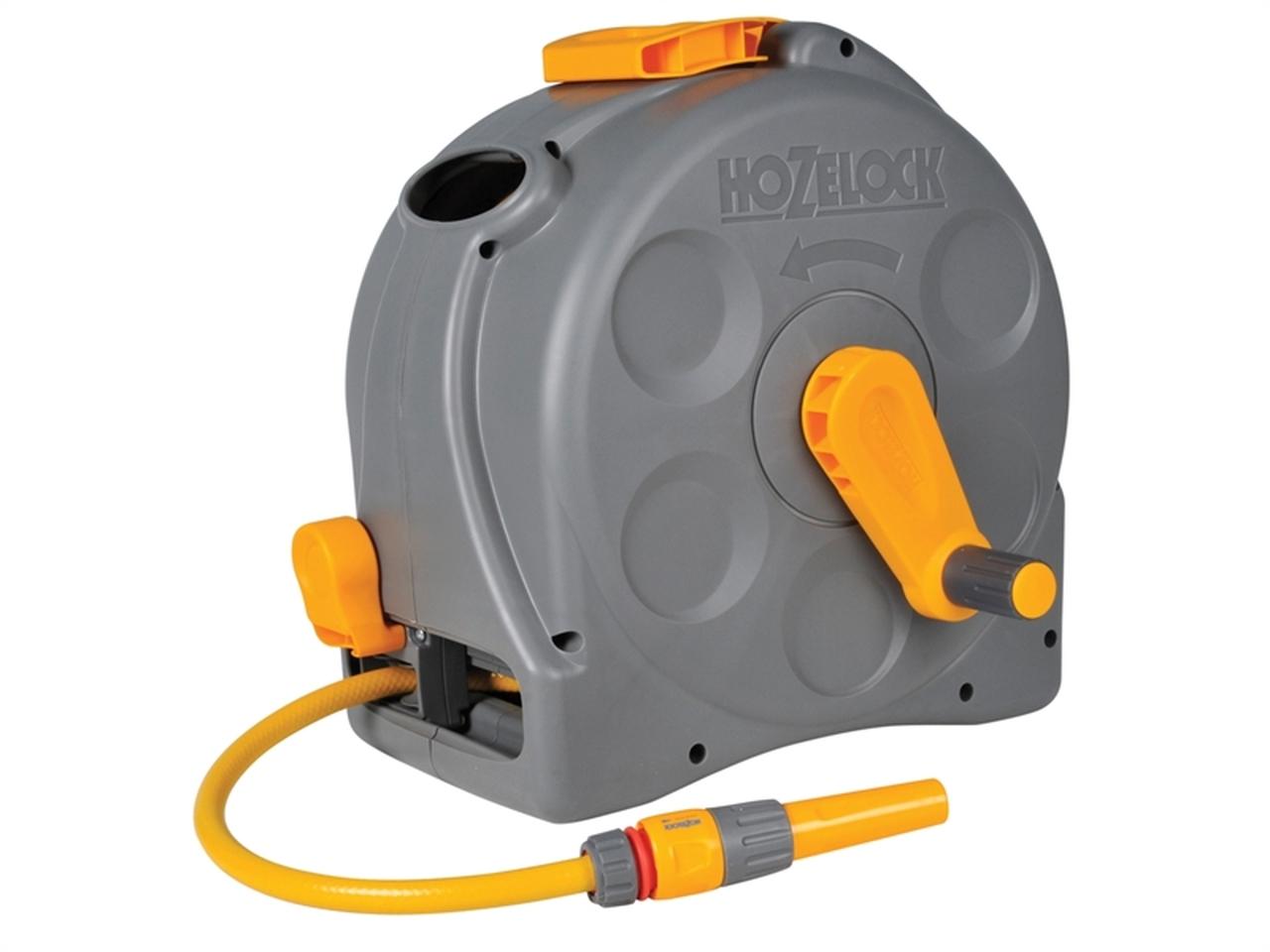 HOZELOCK 2415 2-IN-1 COMPACT HOSE REEL PLUS 25 METRE OF STARTER HOSE