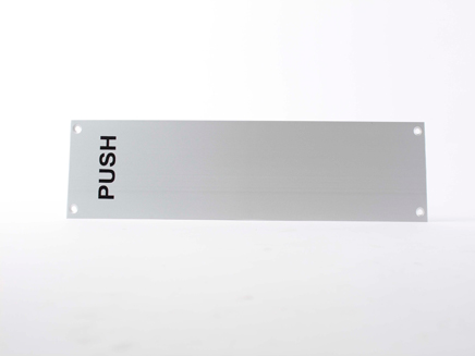 Aluminium Finger Plate - Push SAA 12 x 3 Inch