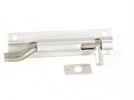 """ALUMINIUM NECKED BARREL DOOR BOLT SAA 102mm x 25mm / 4"""" x 1"""""""