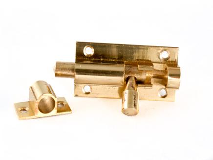 "BRASS BARREL DOOR BOLT PLB 51mm x 25mm / 2"" x 1"""