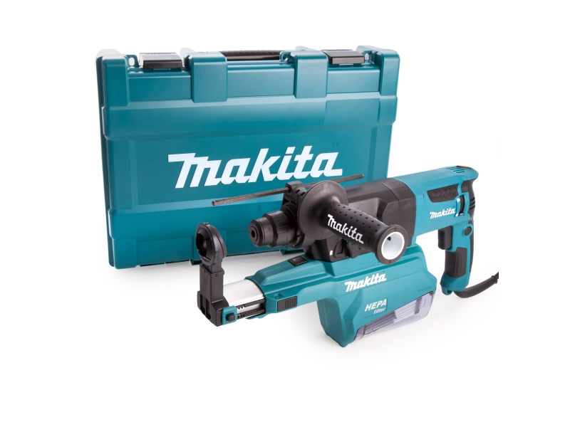 Makita HR2650 110V Rotary SDS Plus Hammer 26mm & Dust Extraction