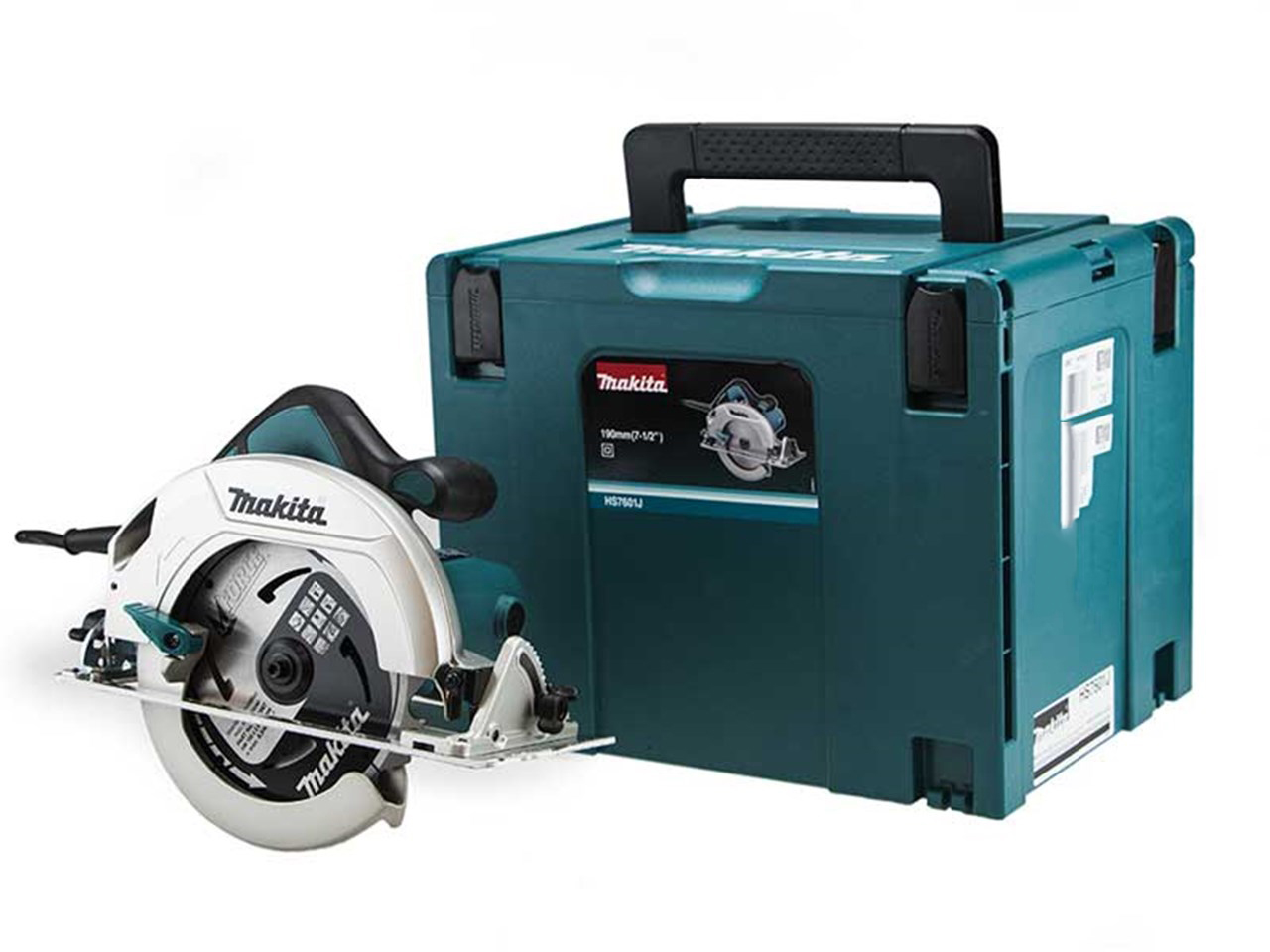Makita HS7601J 110V 190mm Circular Saw - Single Action Lever for Quick Adjustment of Cutting Depth
