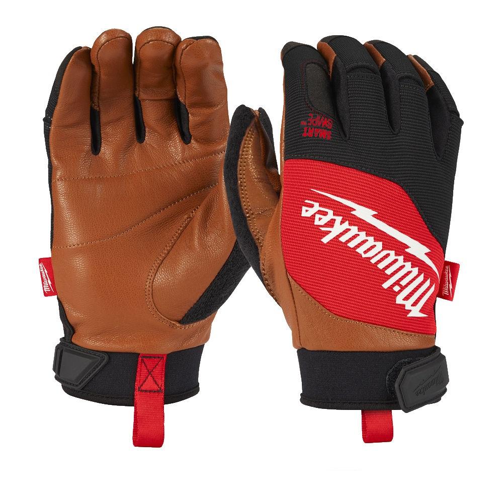 Milwaukee Hybrid Leather Gloves - M/8 - 4932471912