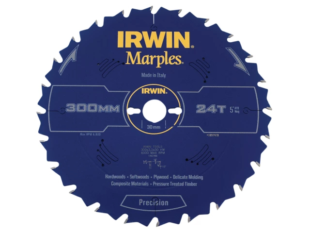 IRWIN MARPLES TABLE AND MITRE CIRCULAR SAW BLADE 300 X 30MM X 24T ATB