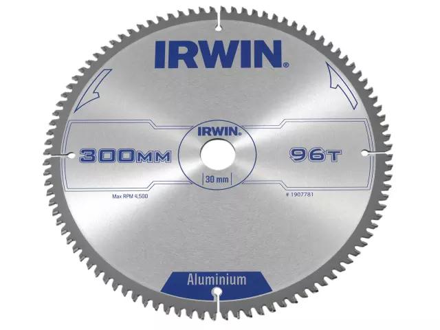 IRWIN PROFESSIONAL CIRCULAR SAW BLADE 300 X 30MM X 96T TCG - ALUMINIUM